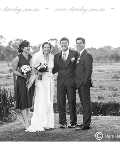 wedding picture in black and white