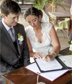 signing of wedding vows