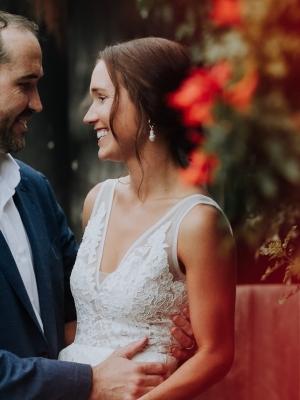 sweet couple marrying